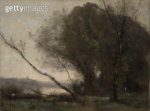 <b>Title</b> : The Bent Tree, c.1855-60 (oil on canvas)<br><b>Medium</b> : oil on canvas<br><b>Location</b> : National Gallery of Victoria, Melbourne, Australia<br> - gettyimageskorea