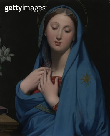 <b>Title</b> : Virgin of the Adoption, 1858 (oil on canvas)<br><b>Medium</b> : oil on canvas<br><b>Location</b> : National Gallery of Victoria, Melbourne, Australia<br> - gettyimageskorea