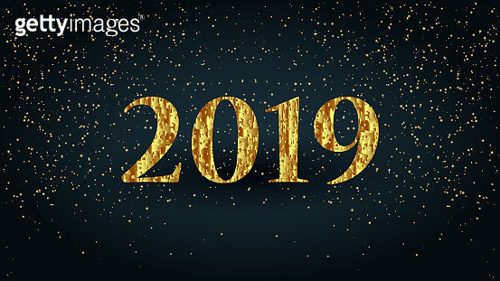 2019 Golden letters new year party text - gettyimageskorea