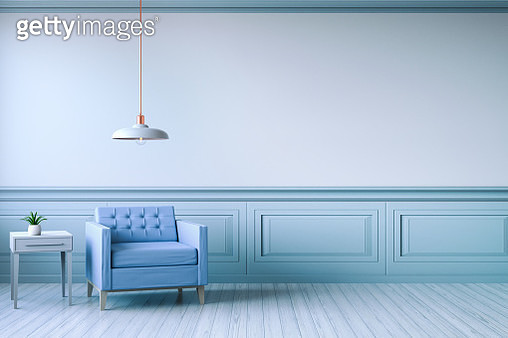Empty Chair Against Wall At Home - gettyimageskorea