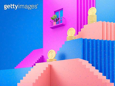 Mortgage, conceptual illustration - gettyimageskorea