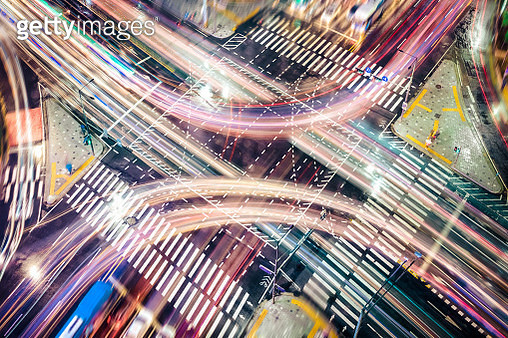 Modern City Concepts: intersection - gettyimageskorea