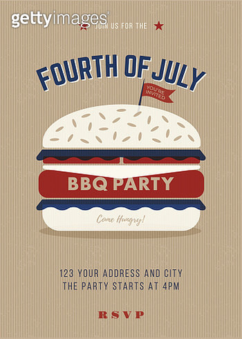 4Th of July BBQ Invitation Template - gettyimageskorea