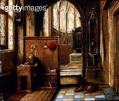 <b>Title</b> : St. Jerome in his Study<br><b>Medium</b> : <br><b>Location</b> : <br> - gettyimageskorea