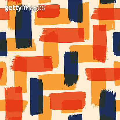 Abstract seamless pattern with color brush strokes. - gettyimageskorea