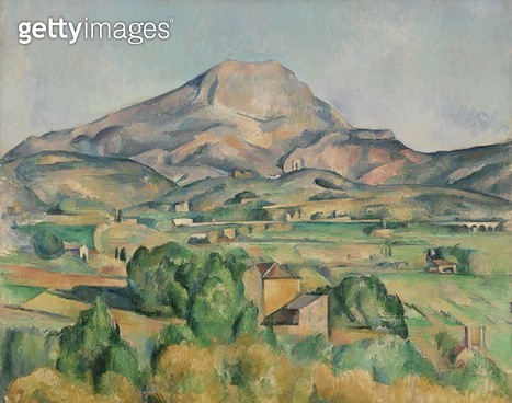 <b>Title</b> : Montagne Sainte-Victoire (oil on canvas)<br><b>Medium</b> : <br><b>Location</b> : The Barnes Foundation, Merion, Pennsylvania, USA<br> - gettyimageskorea