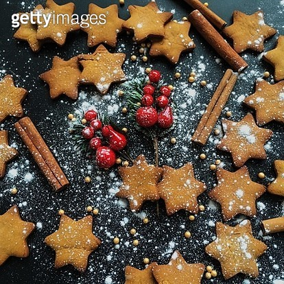 Star-shaped Christmas cookies - gettyimageskorea