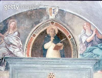 St. Peter Martyr asking for Silence (fresco) - gettyimageskorea