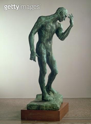 <b>Title</b> : Pierre de Wiessant, 1885 (bronze) (see also 183251)<br><b>Medium</b> : bronze<br><b>Location</b> : Hamburger Kunsthalle, Hamburg, Germany<br> - gettyimageskorea