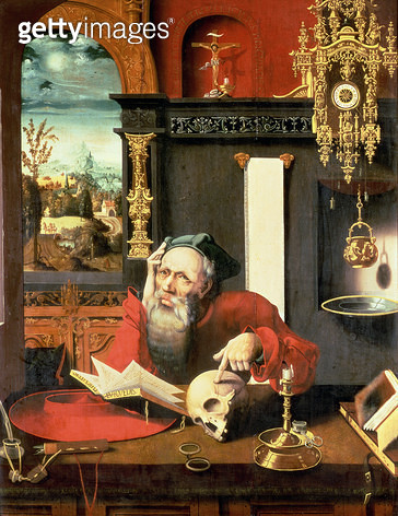 <b>Title</b> : St. Jerome in his Study<br><b>Medium</b> : <br><b>Location</b> : Private Collection<br> - gettyimageskorea
