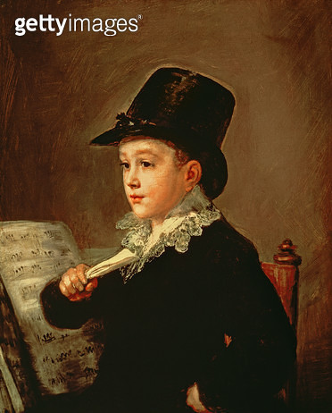 <b>Title</b> : Portrait of Marianito Goya, Grandson of the Artist, c.1815 (oil on canvas)<br><b>Medium</b> : oil on canvas<br><b>Location</b> : Prado, Madrid, Spain<br> - gettyimageskorea