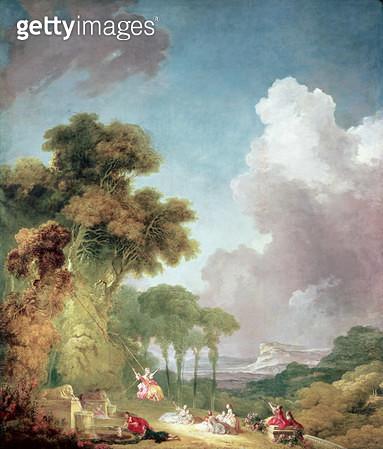 <b>Title</b> : The Swing (oil on canvas)<br><b>Medium</b> : oil on canvas<br><b>Location</b> : National Gallery of Art, Washington DC, USA<br> - gettyimageskorea