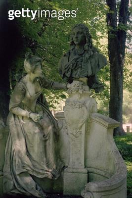 <b>Title</b> : Monument dedicated to Jean Antoine Watteau, 1896 (1684-1721) (see also 252662)Additional Infomonument en hommage a Watteau; orde<br><b>Medium</b> : <br><b>Location</b> : Jardin du Luxembourg, Paris, France<br> - gettyimageskorea