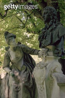<b>Title</b> : Monument dedicated to Jean Antoine Watteau, 1896 (1684-1721) (see also 252661)Additional Infomonument en hommage a Watteau; orde<br><b>Medium</b> : <br><b>Location</b> : Jardin du Luxembourg, Paris, France<br> - gettyimageskorea