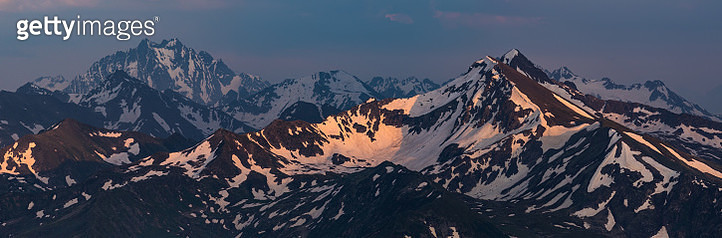 Fantastic mountain in last beams of sun. - gettyimageskorea