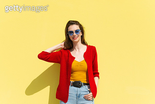 Young woman with sunglasses - gettyimageskorea