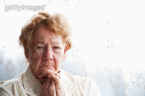 Face of senior woman - gettyimageskorea