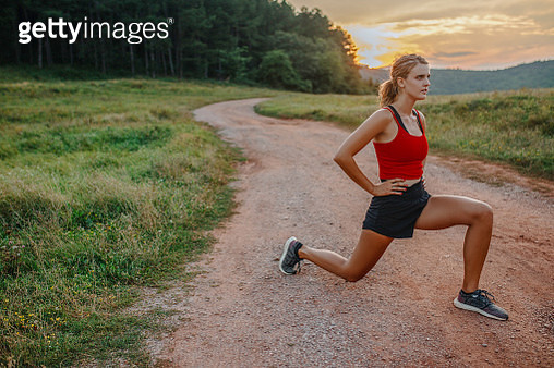 Sport woman stretch after workout - gettyimageskorea