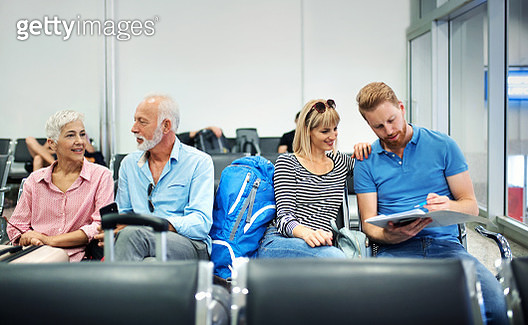 Waiting for a plane. - gettyimageskorea