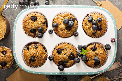 Vegan banana blueberry muffins - gettyimageskorea