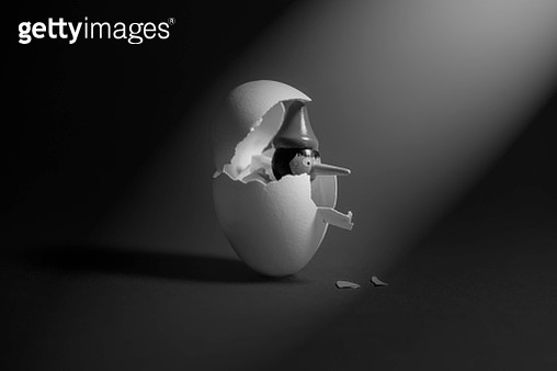 egg and pinocchio - gettyimageskorea