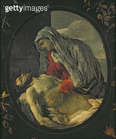 <b>Title</b> : Pieta (oil on canvas)<br><b>Medium</b> : oil on canvas<br><b>Location</b> : Musee d'Art Thomas Henry, Cherbourg, France<br> - gettyimageskorea