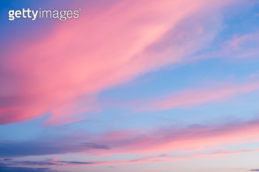 Pink clouds at sunset - gettyimageskorea
