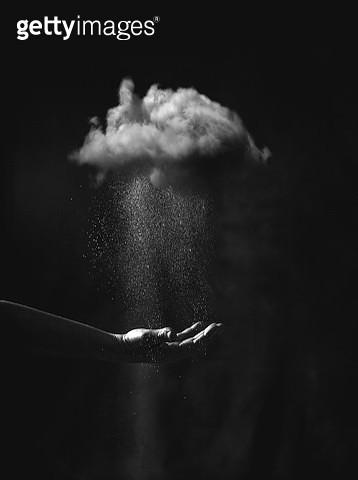 Creating rain.  Conceptual photography - gettyimageskorea