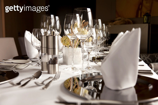 Part of a restaurant table, ready to invite somebody - gettyimageskorea
