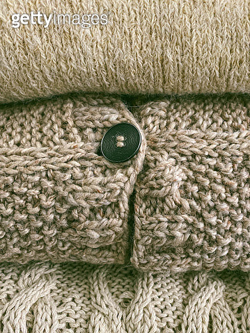 Knitted Sweater Detail - gettyimageskorea