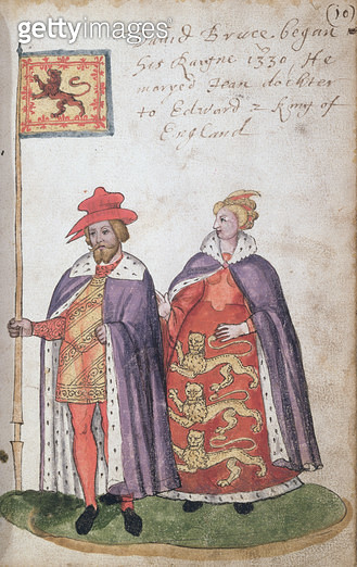 <b>Title</b> : Marriage of David Bruce (reign started 1330) to Jean, daughter of Edward II (manuscript)<br><b>Medium</b> : <br><b>Location</b> : National Library of Scotland, Edinburgh, Scotland<br> - gettyimageskorea
