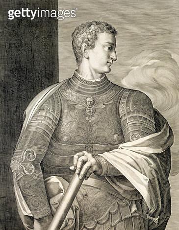 <b>Title</b> : Gaius Caesar 'Caligula' (12-41 AD) Emperor of Rome 37-41 AD engraved by Aegidius Saedeler (1570-1629) (engraving)Additional Info<br><b>Medium</b> : <br><b>Location</b> : Private Collection<br> - gettyimageskorea
