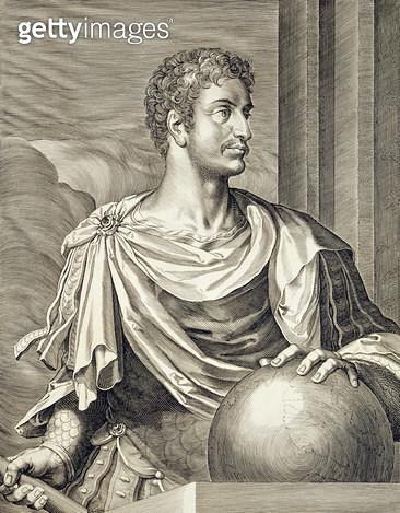 <b>Title</b> : D. Octavius Augustus (63 BC - 14 AD) Emperor of Rome 27 BC - 14 AD engraved by Aegidius Sadeler (1570-1629) (engraving)Additiona<br><b>Medium</b> : <br><b>Location</b> : Private Collection<br> - gettyimageskorea