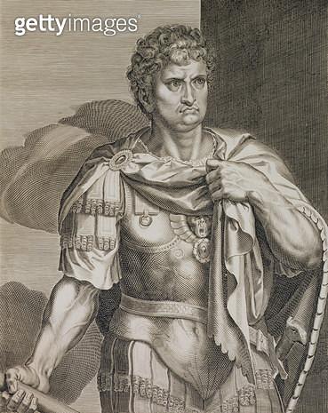 <b>Title</b> : Nero Claudius Caesar Emperor of Rome 54-68 AD engraved by Aegidius Sadeler (1570-1629) (engraving)<br><b>Medium</b> : <br><b>Location</b> : Private Collection<br> - gettyimageskorea