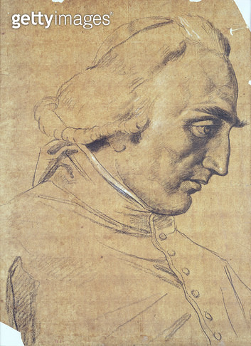 <b>Title</b> : Portrait of Cardinal Ercole Consalvi (1757-1824) c.1814 (pencil and wash)<br><b>Medium</b> : <br><b>Location</b> : Private Collection<br> - gettyimageskorea