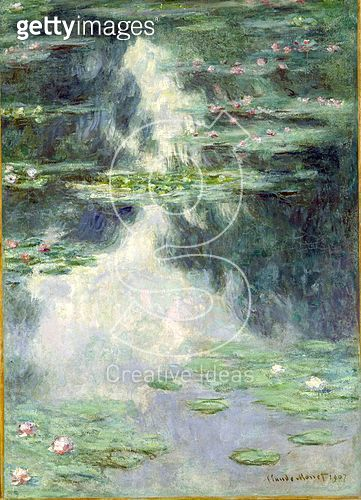 <b>Title</b> : Pond with Water Lilies, 1907 (oil on canvas)<br><b>Medium</b> : oil on canvas<br><b>Location</b> : The Israel Museum, Jerusalem, Israel<br> - gettyimageskorea
