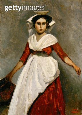 <b>Title</b> : An Italian Girl, c.1872 (oil on canvas)<br><b>Medium</b> : oil on canvas<br><b>Location</b> : Brooklyn Museum of Art, New York, USA<br> - gettyimageskorea