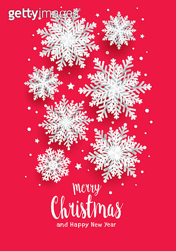 Paper cut snowflakes Christmas card - gettyimageskorea