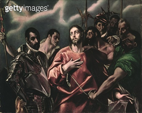 <b>Title</b> : The Disrobing of Christ (El Espolio)<br><b>Medium</b> : <br><b>Location</b> : Museum of Fine Arts, Budapest, Hungary<br> - gettyimageskorea