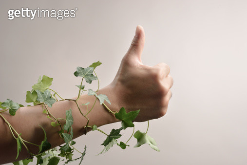 Close-up of thumbs up - gettyimageskorea