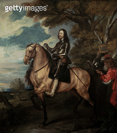 Charles I on Horseback (copy of the National Gallery/ London portrait by Van Dyck) - gettyimageskorea