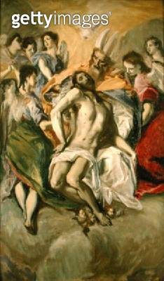 <b>Title</b> : The Descent from the Cross, after El Greco (oil on canvas)<br><b>Medium</b> : oil on canvas<br><b>Location</b> : Private Collection<br> - gettyimageskorea
