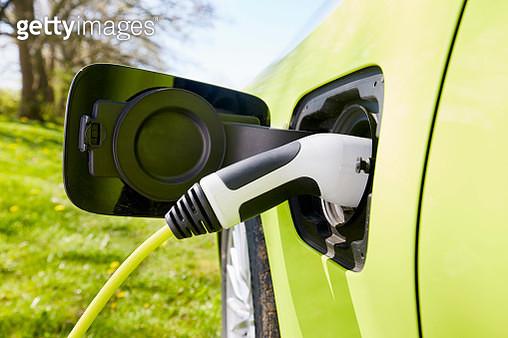 Electric car charging - gettyimageskorea