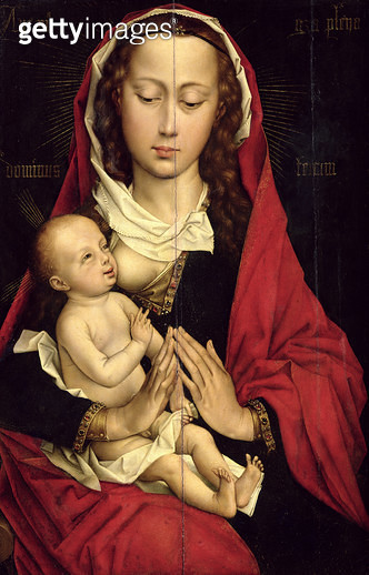 <b>Title</b> : Madonna and Child (oil on panel)<br><b>Medium</b> : oil on panel<br><b>Location</b> : Musee des Beaux-Arts, Caen, France<br> - gettyimageskorea