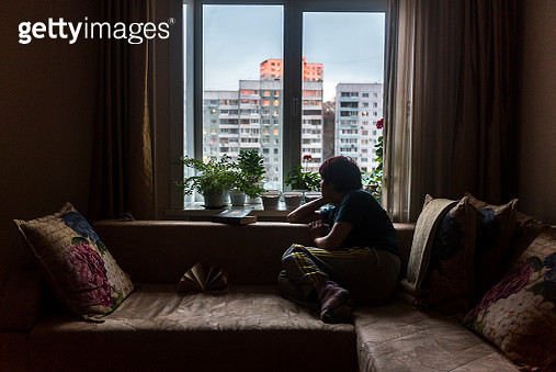 Looking out from the window - gettyimageskorea