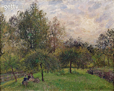 <b>Title</b> : Apple Trees and Poplars in the Setting Sun, 1901 (oil on canvas)Additional InfoPommiers et Peupliers au Soleil Couchant;<br><b>Medium</b> : oil on canvas<br><b>Location</b> : Musee des Beaux-Arts Andre Malraux, Le Havre, France<br> - gettyimageskorea