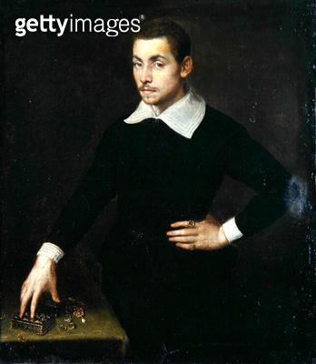 <b>Title</b> : Portrait of a Young Florentine Goldsmith (oil on canvas)<br><b>Medium</b> : oil on canvas<br><b>Location</b> : Musee des Beaux-Arts Andre Malraux, Le Havre, France<br> - gettyimageskorea