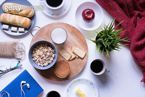 Directly Above View Of Fresh Food On Table - gettyimageskorea