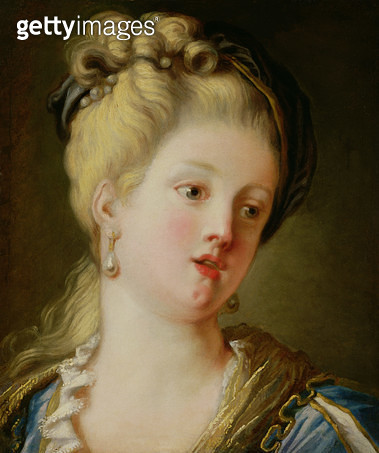 <b>Title</b> : Portrait of a young woman (oil on canvas)<br><b>Medium</b> : <br><b>Location</b> : Private Collection<br> - gettyimageskorea