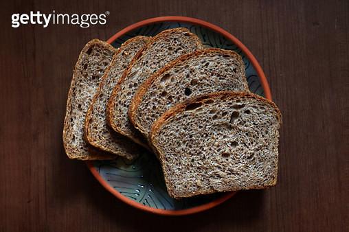 100% Whole Wheat Italian Rustic Bread. Sliced - gettyimageskorea